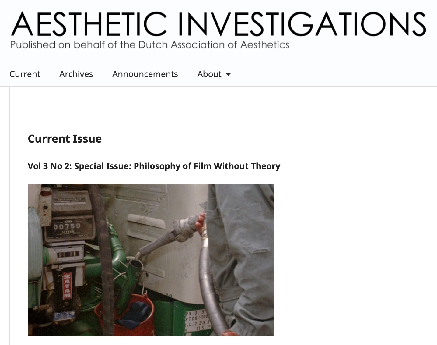 Aesthetic Investigations, vol. 3, issue 2