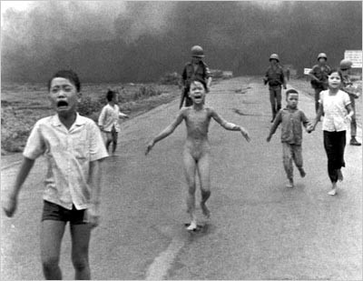 Vietnam Napalm, photograph by Nick Ut, 1972